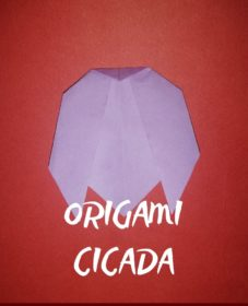 tutorial origami cicada