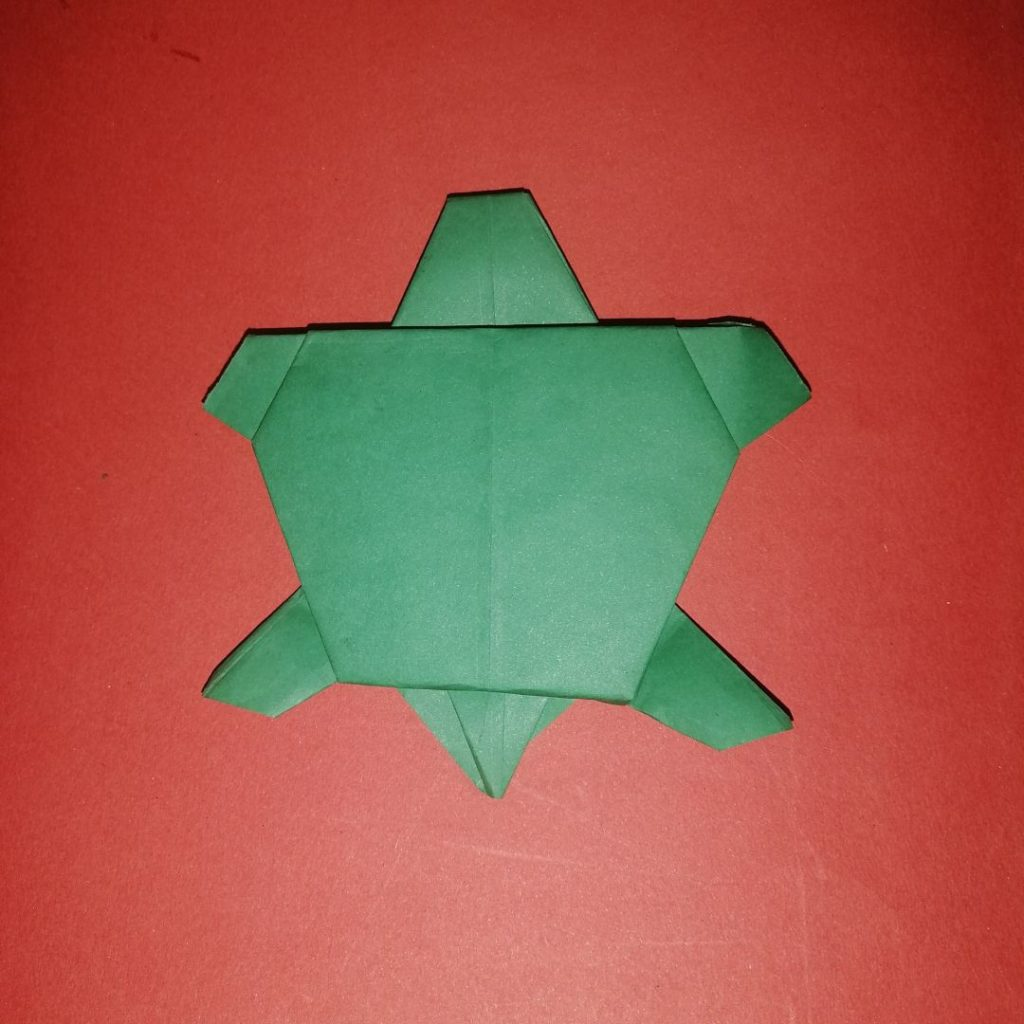 Turtle and Baby Turtle Origami Ver.2 for Kids Tutorial | 1024x1024