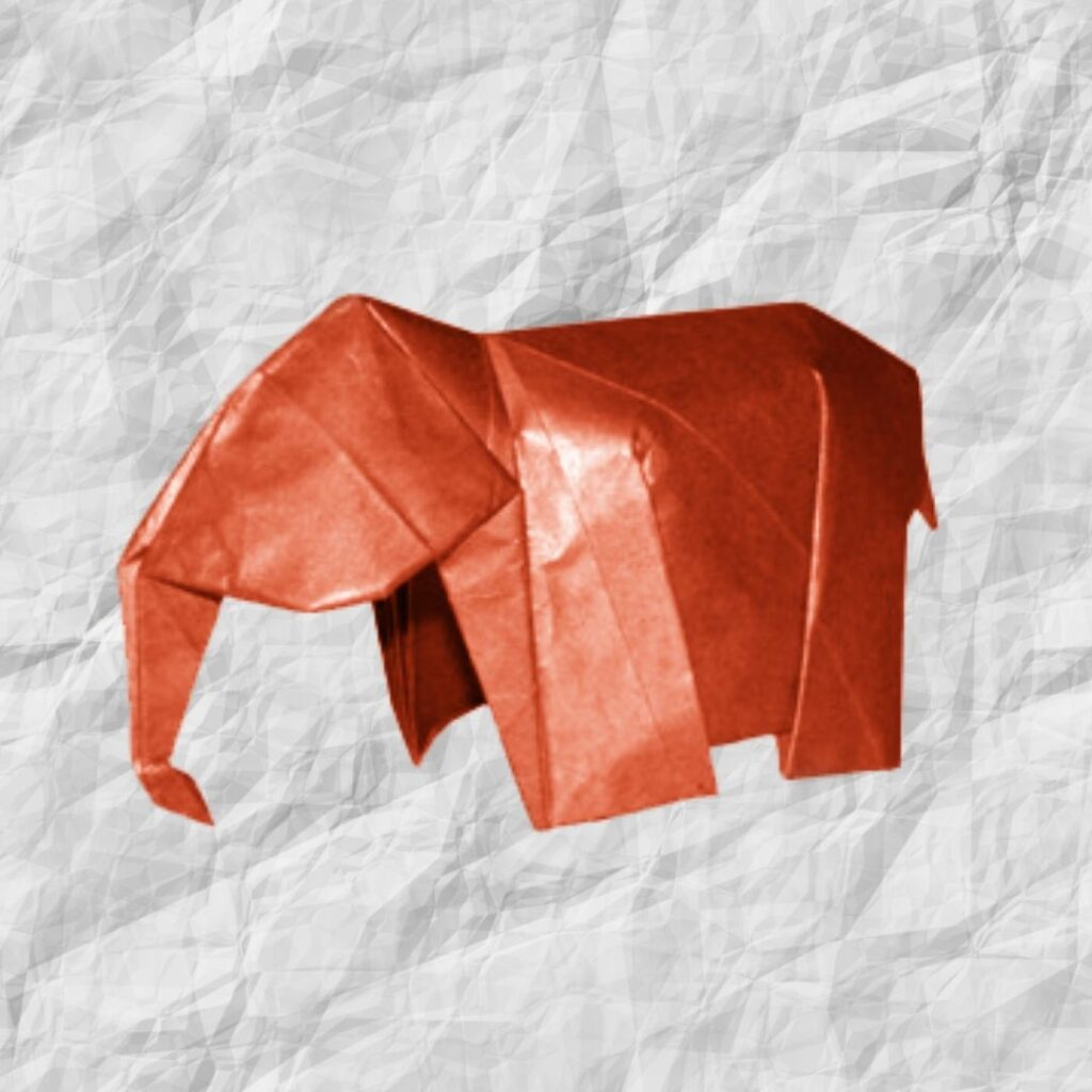Step instructions how to make origami an elephant Vector Image | 1024x1024