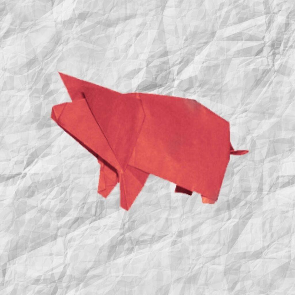 origami little pig