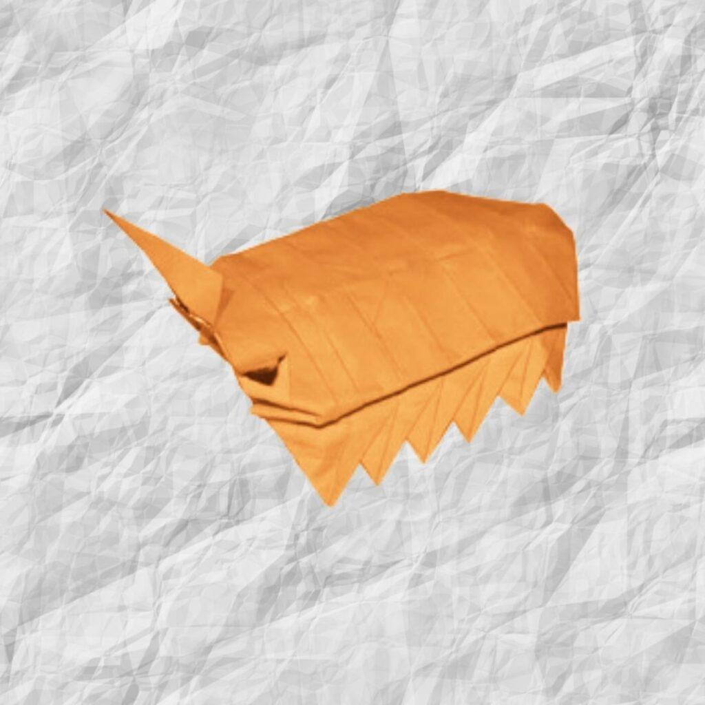 origami woodlouse