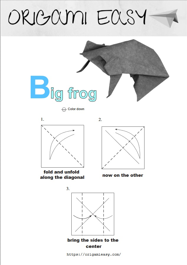 frog origami tutorial … | Origami crafts, Origami frog, Origami easy | 898x634