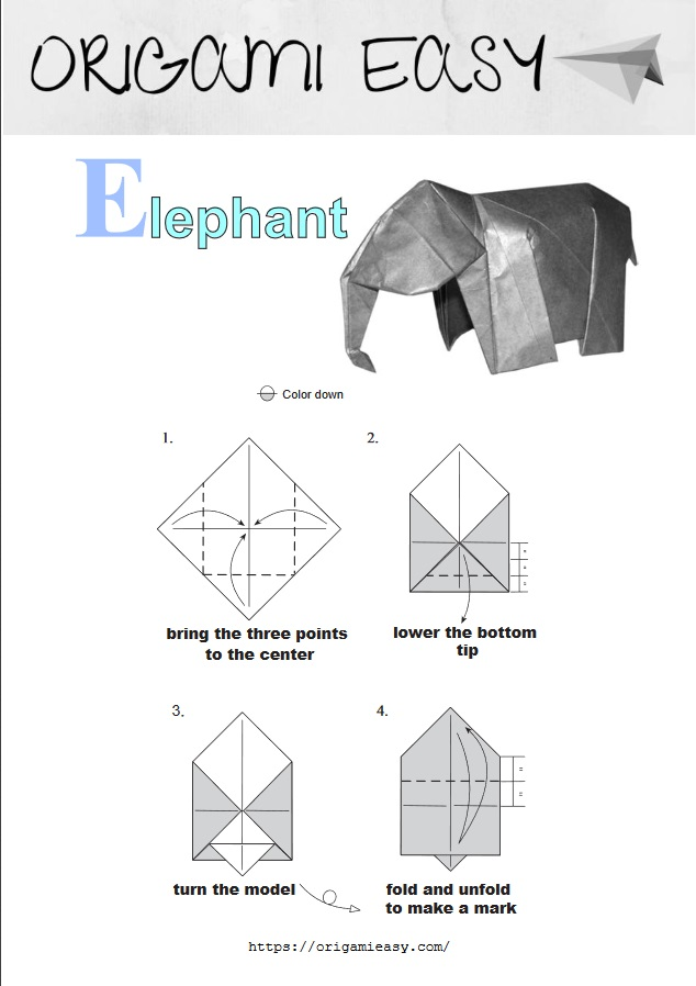 How to Make an Origami Elephant | 898x634