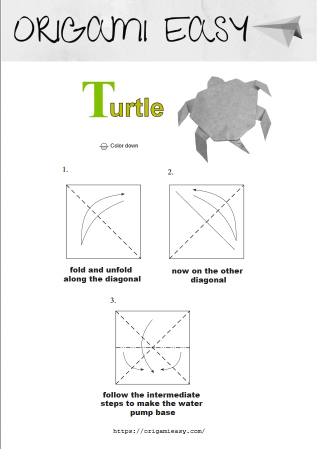 How To Make an Easy Origami Turtle | Easy Paper Origami Turtle ... | 898x634