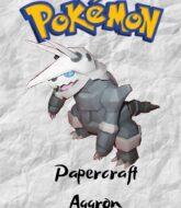 aggron-pokemon-papercraft-model