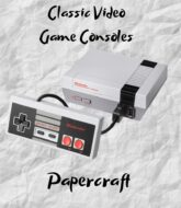 classic-video-game-cosoles-papercraft-model-template