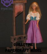 guillotine-papercraft-model-barbie-scale