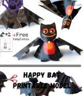 happy-bat-printable-paper-model