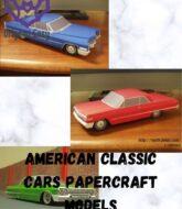 American-Classic-cars-Papercraft-Models-–-66-Cadillac-63-Impala-and-Impala-Lowrider