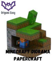 minecraft-papercraft-diorama-templates